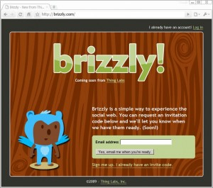Brizzly home page